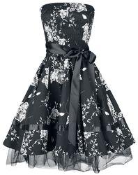 Black White Floral Dress