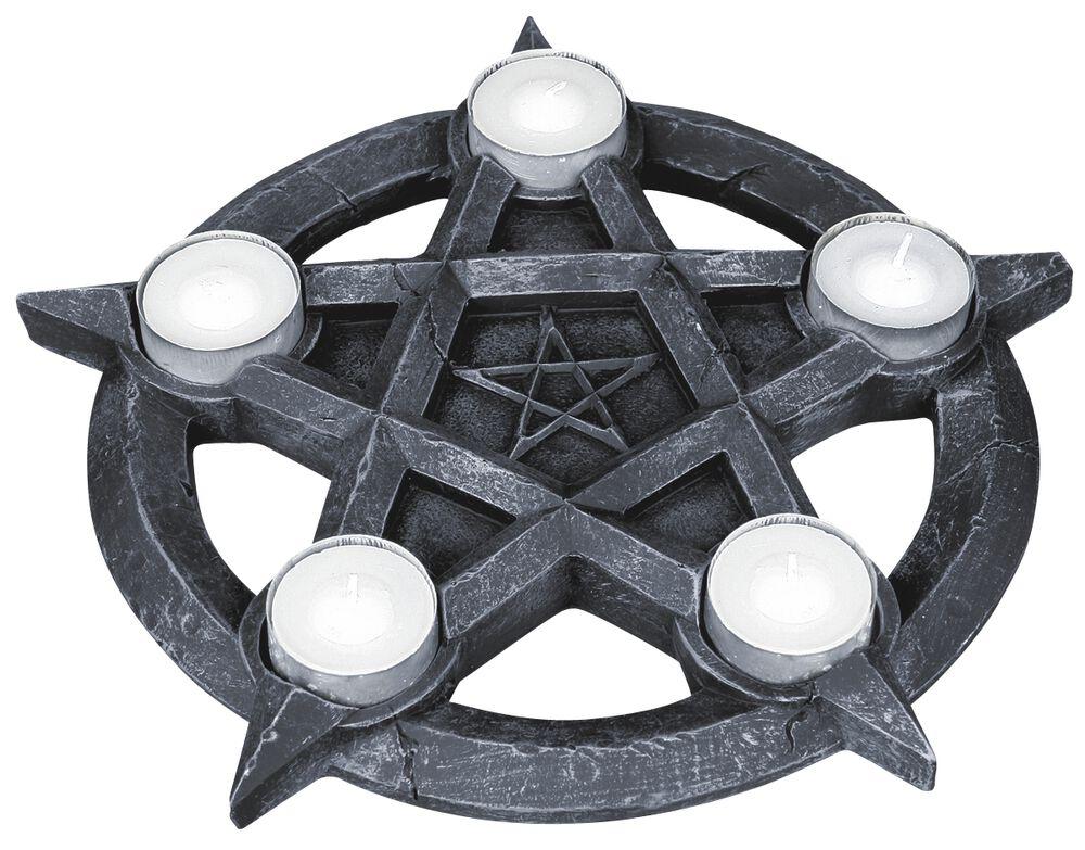Porta Velas Pentagrama