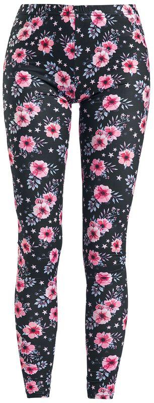Coloridos leggings con estampado floral