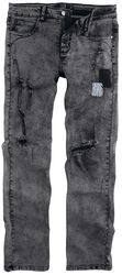 Destroyed Jeans mit Patches