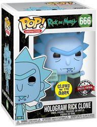 Figura Vinilo Hologram Rick Clone 666