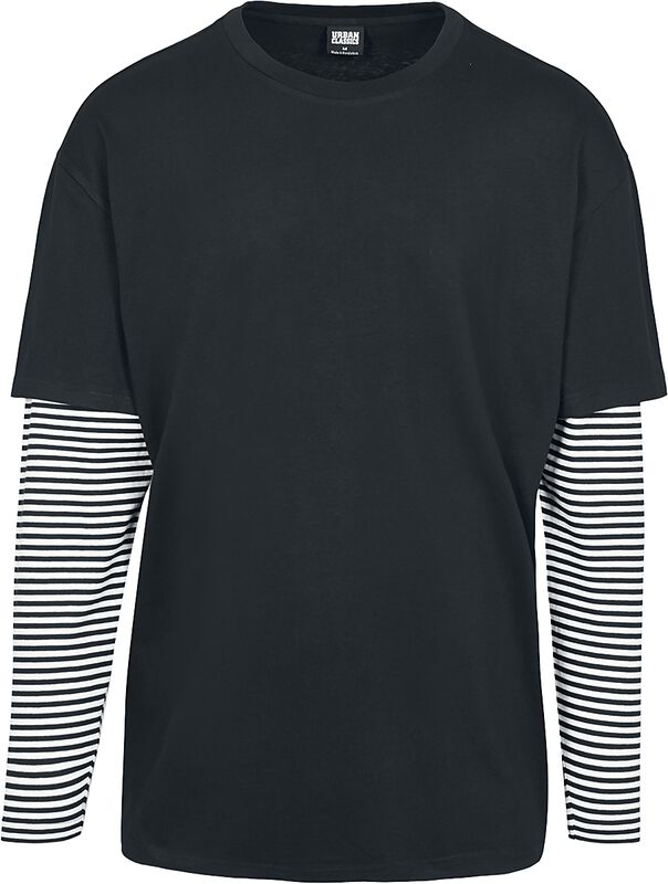 Oversized Double Layer Striped LS