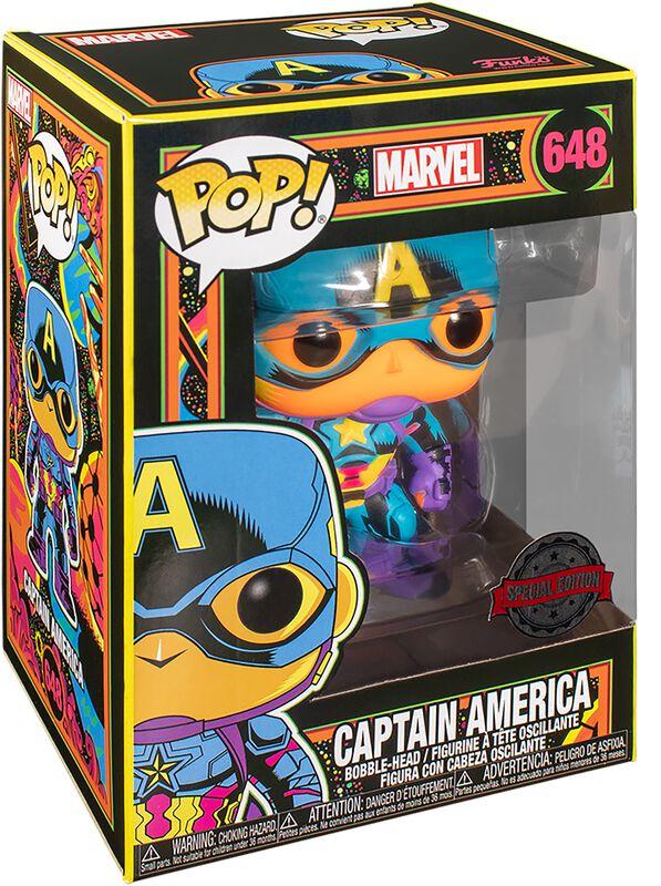 Figura vinilo Black Light - Captain America 648
