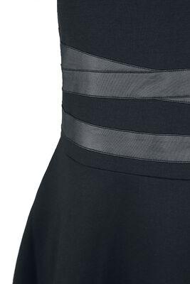 Vestido corto con detalles bondage