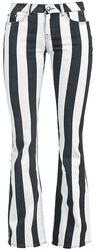Grace - Pantalones a rayas negro/blanco