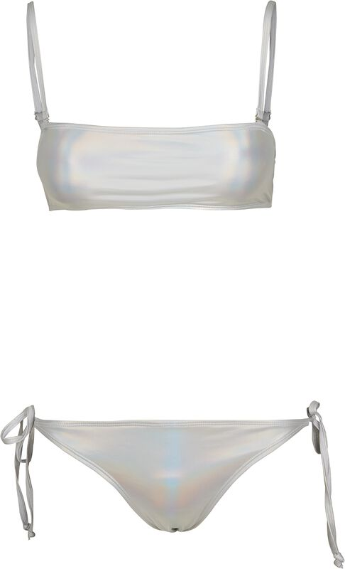 Ladies Shimmering Bandeau Swimsuit
