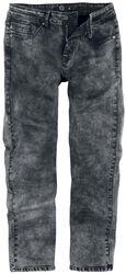 Jeans mit schwarz- grauer Waschung