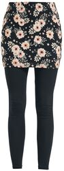Leggings 2en1 y falda con estilo floral