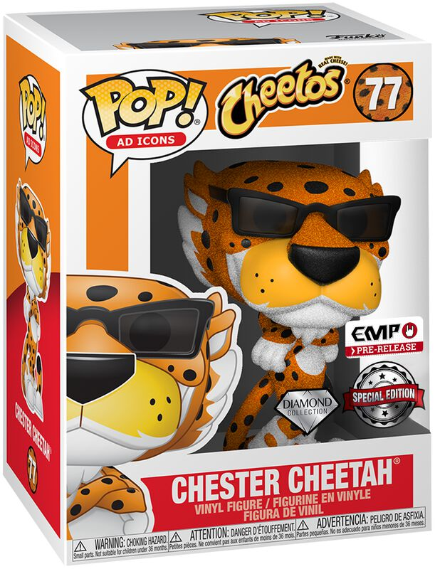 POP Ad Icons: Cheetos - Chester Cheetah (Glitter) Vinyl Figure 77