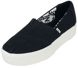 Black Heritage Alpargata Boardwalk Slip-On