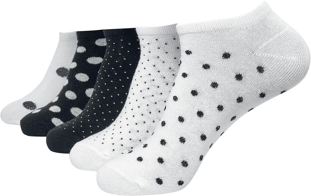 No Show Socks Dots 5-Pack