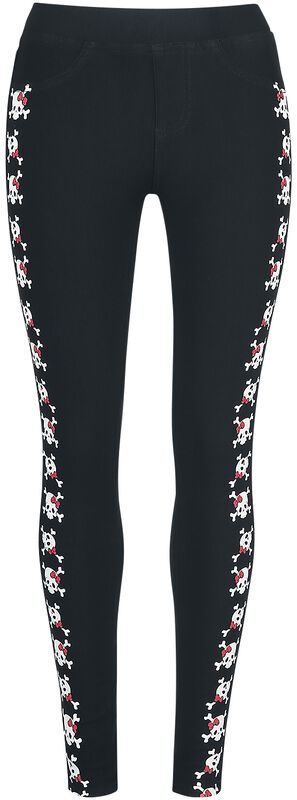 Leggings con estampado de calavera