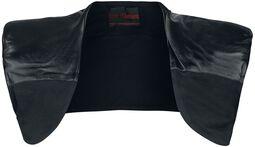 Shoulder Bolero With Imitation Leather