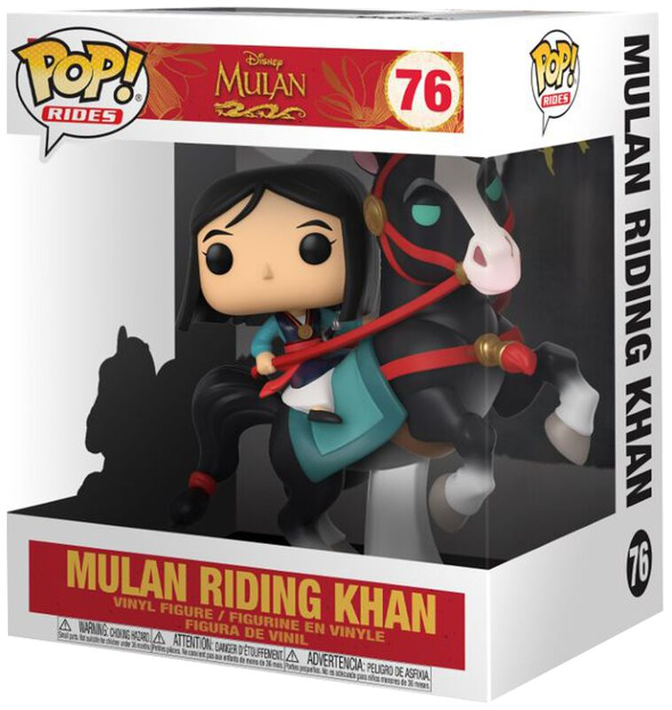 Mulan on Khan POP! Figura Vinilo Rides 76