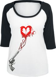 Ladies Pistol Heart Raglan