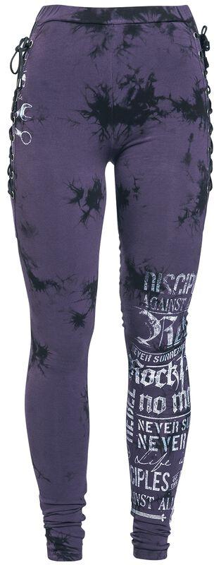 Leggings con look batik y cordón