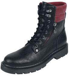 Botas negras con caña roja
