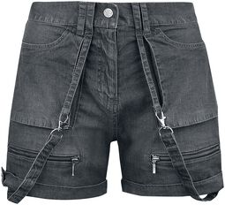 Black Premium Rocking Shorts with Straps