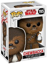 Figura Vinilo Episode 8 - The Last Jedi - Chewbacca with Porg Bobble Head 195