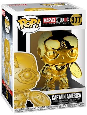 Figura Vinilo Marvel Studios 10 - Captain America (Chrome) 377