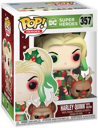 Figura vinilo Harley Quinn With Helper (Holiday) 357