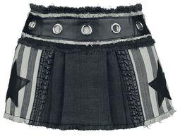 Ultra mini falda plisada con estrellas