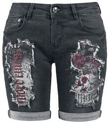 Pantalón corto Distressed de Rock Rebel