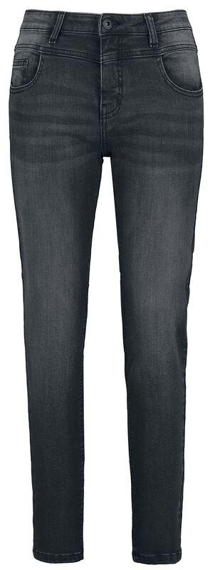 Ladies Skinny Mid Waist 5 Pocket