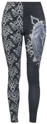 Gothicana X Anne Stokes - Black Leggings with Prints