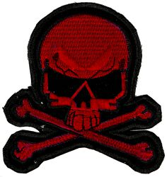 Small Red Skull Patch