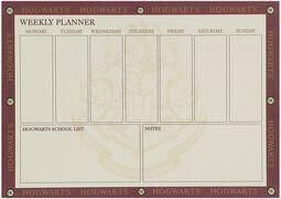 Platform 9 3/4 - Agenda semanal