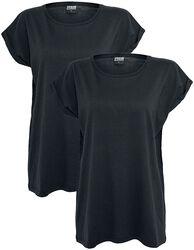 Ladies Extended Shoulder 2 Pack