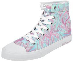 Zapatillas color pastel de estilo abstracto