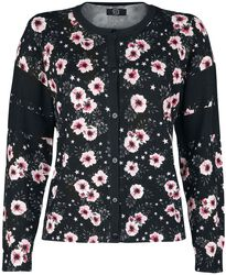 College Look Floral Cardigan