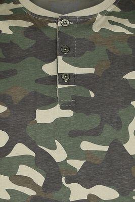Manga larga camuflaje con fila de botones