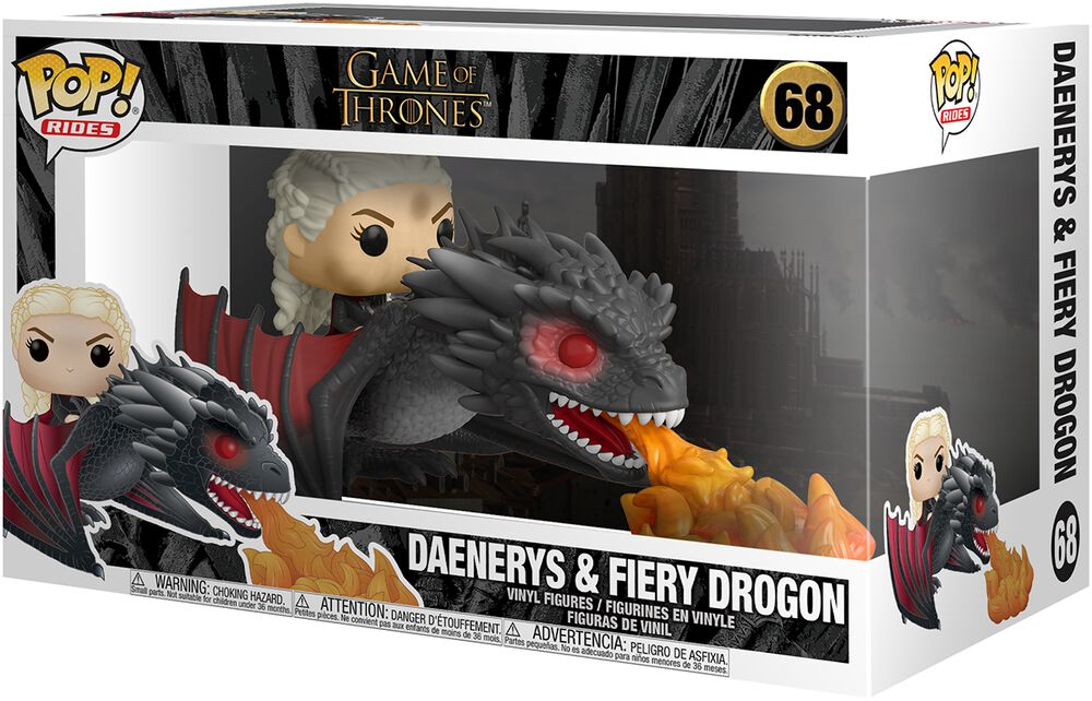 Figura Vinilo Daenerys and Fiery Drogon POP Rides 68