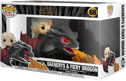 Figura Vinilo Daenerys and Fiery Drogon POP Rides 68