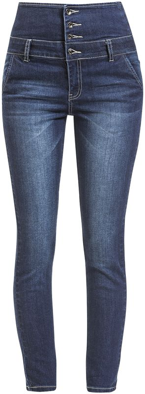 Denim Jeans Cintura Alta