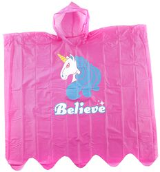 Believe Unicorn Rain Poncho