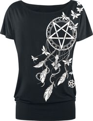 T-shirt with Pentagram and Dreamcatcher