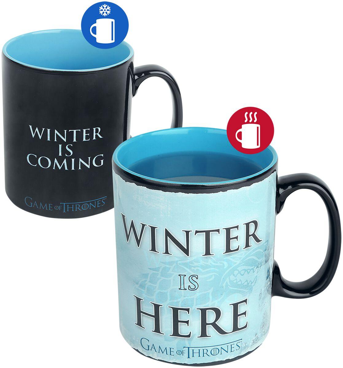 Winter Is Here Taza Efecto Térmico Juego De Tronos Taza Emp