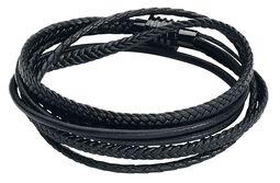 Black Trio Braided Leather