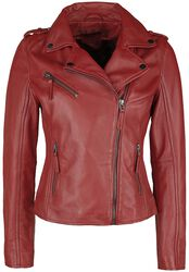 Red Leather Biker