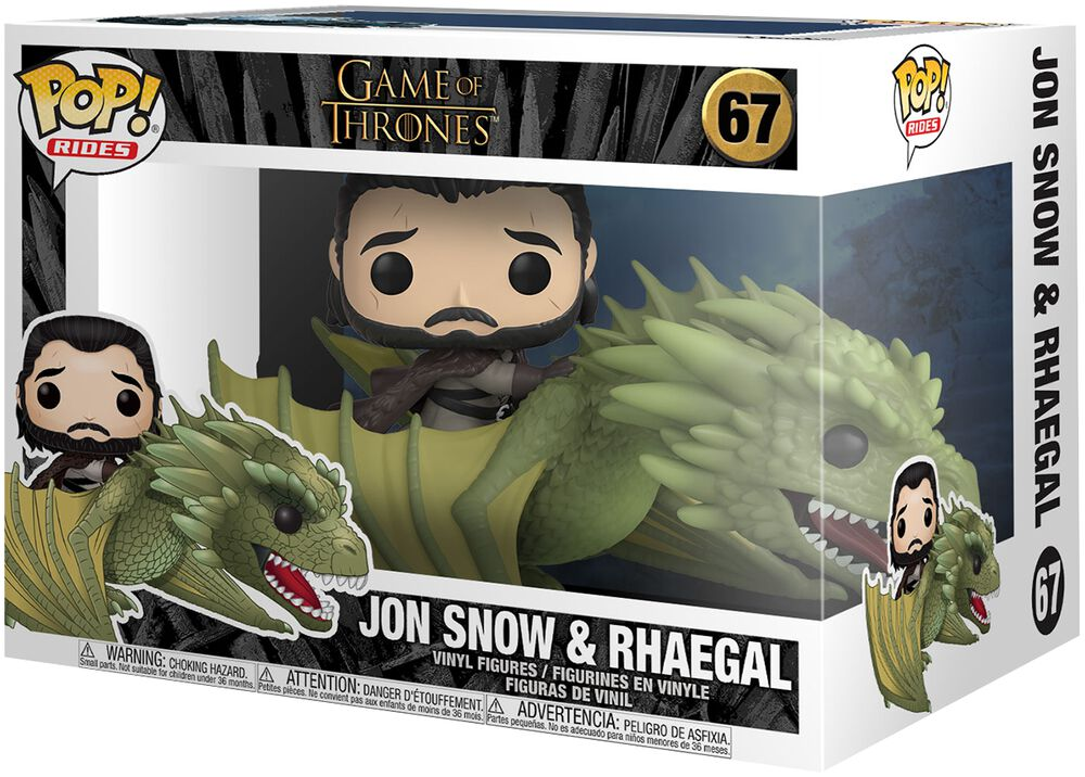 Figura vinilo Jon Snow and Rhaegal (Pop Rides) 67