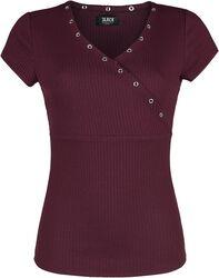 Camiseta roja con amplio cuello V