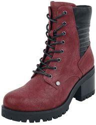 Botas rojas con tacón