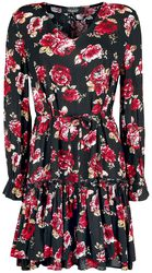Black/Red Floral All-Over