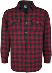 Camisa a cuadros negro/rojo