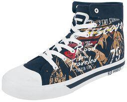 Zapatillas azul oscuro con estampados