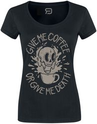 Black T-shirt with Crew Neck and Print